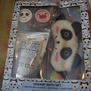 Hello Kritters Panda Sleep Mask Bath Fizzers Gift